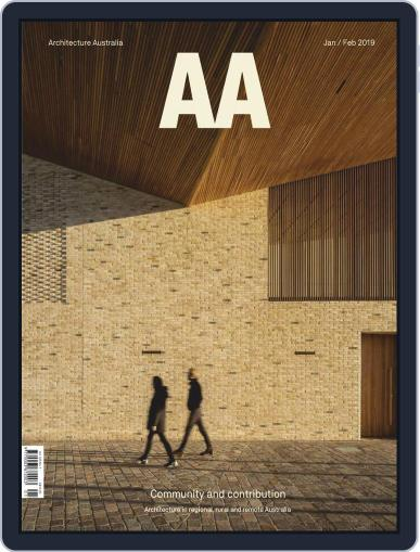 Architecture Australia (Digital) January 1st, 2019 Issue Cover
