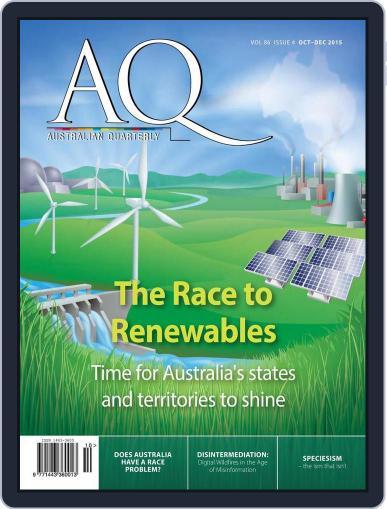 AQ: Australian Quarterly (Digital) October 1st, 2015 Issue Cover