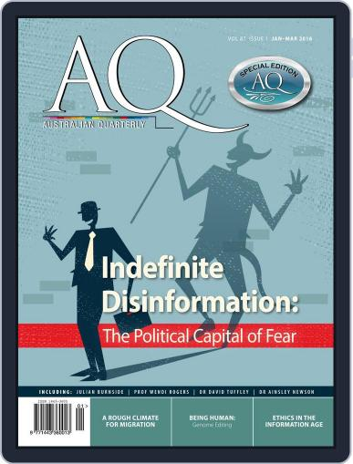 AQ: Australian Quarterly January 1st, 2016 Digital Back Issue Cover