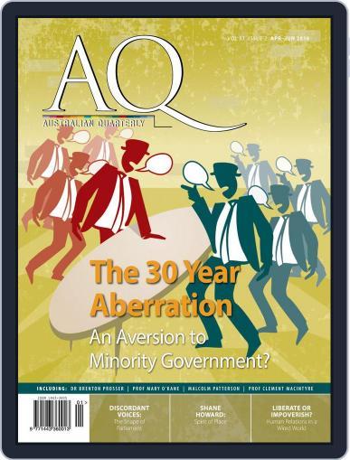 AQ: Australian Quarterly April 1st, 2016 Digital Back Issue Cover