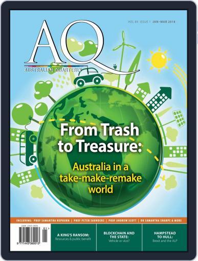 AQ: Australian Quarterly January 1st, 2018 Digital Back Issue Cover
