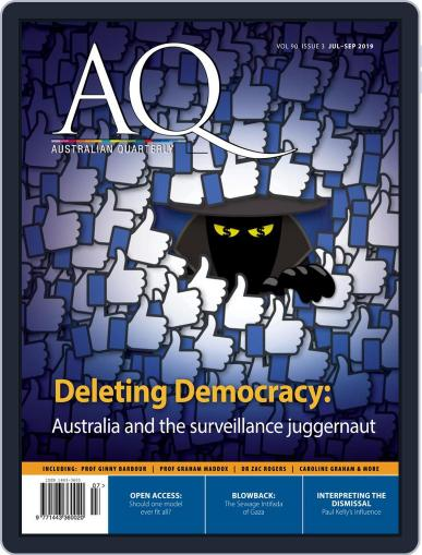 AQ: Australian Quarterly July 1st, 2019 Digital Back Issue Cover