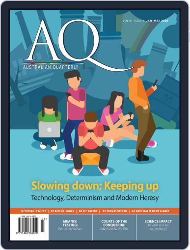 AQ: Australian Quarterly (Digital) January 1st, 2020 Issue Cover