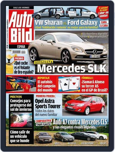 Auto Bild Es (Digital) November 5th, 2010 Issue Cover