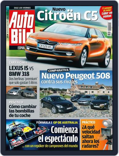 Auto Bild Es (Digital) March 24th, 2011 Issue Cover