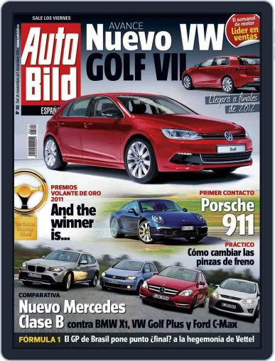 Auto Bild Es (Digital) November 25th, 2011 Issue Cover