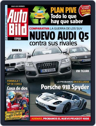 Auto Bild Es (Digital) October 11th, 2012 Issue Cover
