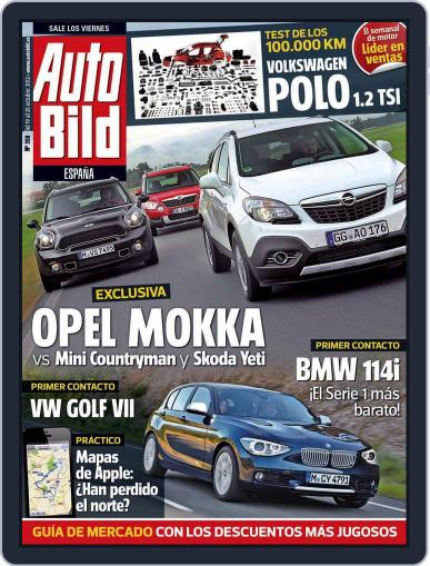 Auto Bild Es (Digital) October 19th, 2012 Issue Cover