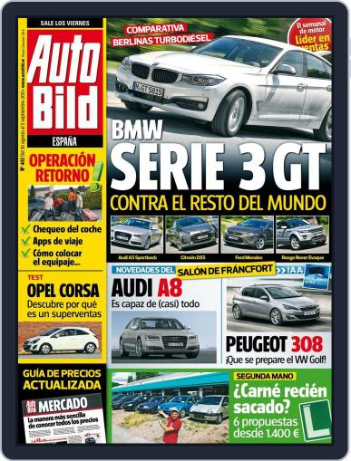 Auto Bild Es (Digital) August 30th, 2013 Issue Cover