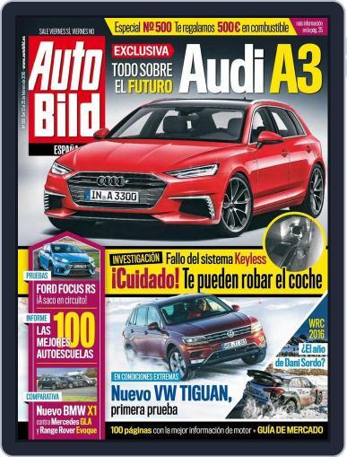 Auto Bild Es (Digital) February 12th, 2016 Issue Cover