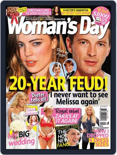 Woman's Day Australia (Digital) November 18th, 2012 Issue Cover