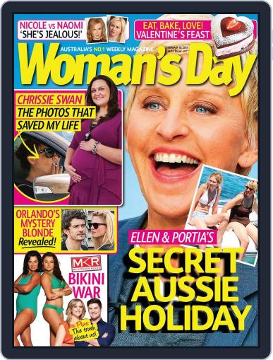 Woman's Day Australia February 10th, 2013 Digital Back Issue Cover