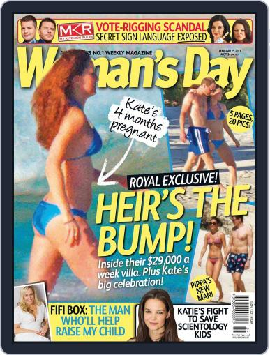 Woman's Day Australia (Digital) February 17th, 2013 Issue Cover