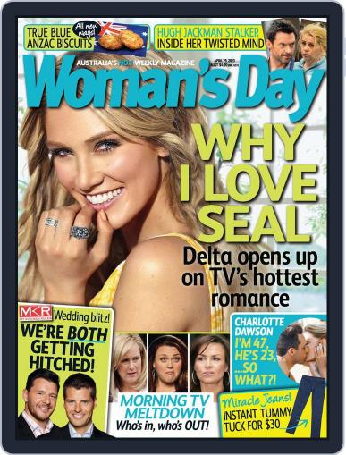 Woman's Day Australia April 21st, 2013 Digital Back Issue Cover
