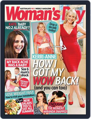 Woman's Day Australia (Digital) September 29th, 2013 Issue Cover