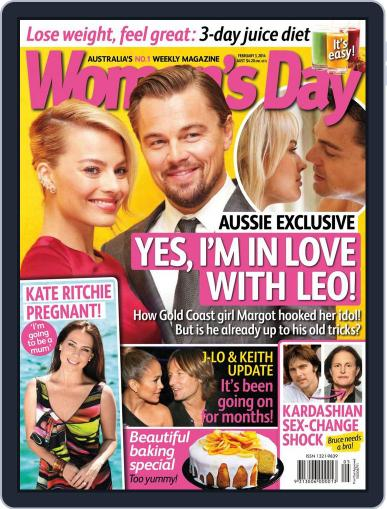 Woman's Day Australia January 25th, 2014 Digital Back Issue Cover