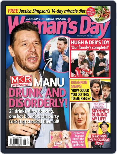 Woman's Day Australia February 1st, 2014 Digital Back Issue Cover