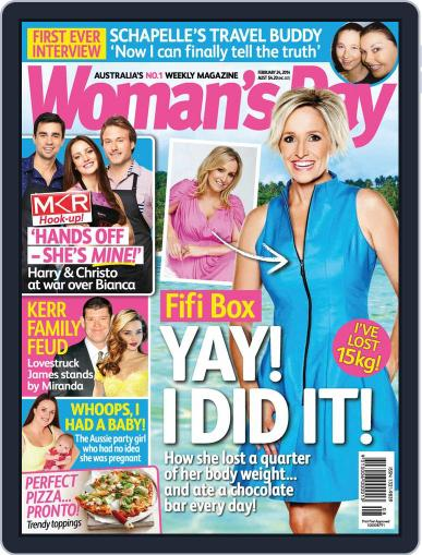 Woman's Day Australia February 15th, 2014 Digital Back Issue Cover
