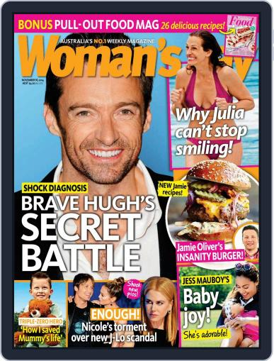 Woman's Day Australia November 2nd, 2014 Digital Back Issue Cover