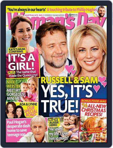 Woman's Day Australia December 7th, 2014 Digital Back Issue Cover