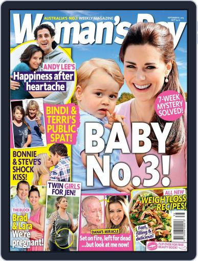 Woman's Day Australia (Digital) September 14th, 2015 Issue Cover