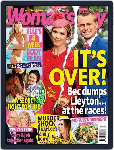 Woman's Day Australia November 7th, 2015 Digital Back Issue Cover