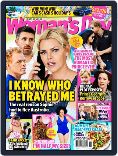 Woman's Day Australia (Digital) October 9th, 2017 Issue Cover
