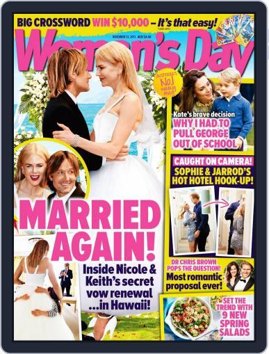 Woman's Day Australia (Digital) November 13th, 2017 Issue Cover