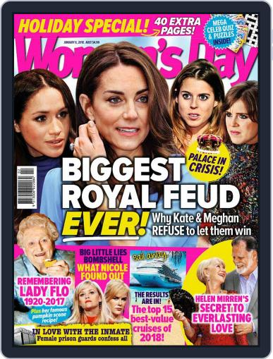 Woman's Day Australia (Digital) January 8th, 2018 Issue Cover