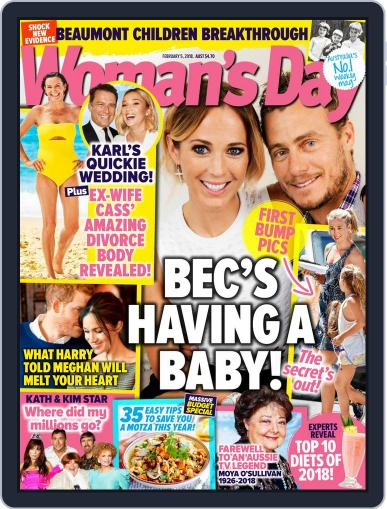 Woman's Day Australia (Digital) February 5th, 2018 Issue Cover