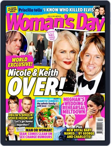 Woman's Day Australia April 23rd, 2018 Digital Back Issue Cover