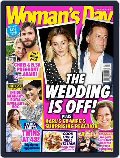 Woman's Day Australia (Digital) June 18th, 2018 Issue Cover