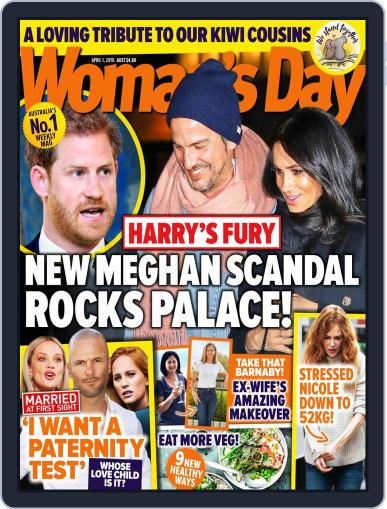 Woman's Day Australia April 1st, 2019 Digital Back Issue Cover