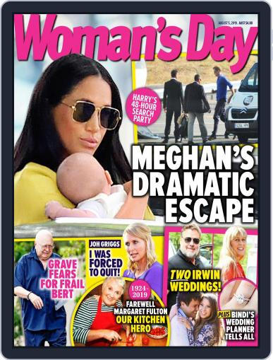 Woman's Day Australia (Digital) August 5th, 2019 Issue Cover