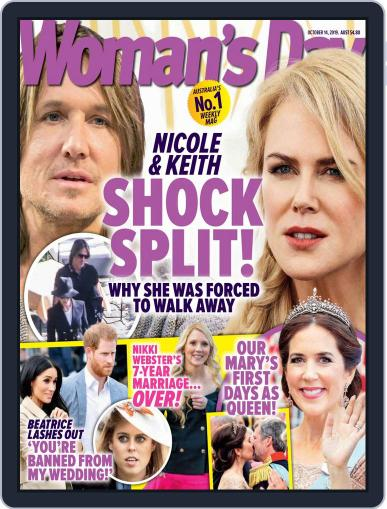 Woman's Day Australia (Digital) October 14th, 2019 Issue Cover
