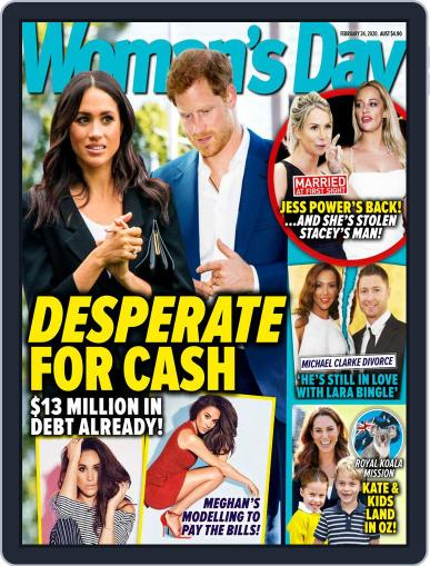 Woman's Day Australia (Digital) February 24th, 2020 Issue Cover