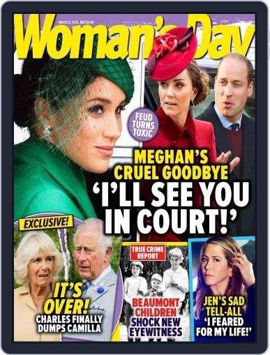 Woman's Day Australia March 23rd, 2020 Digital Back Issue Cover