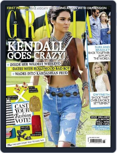 Grazia (Digital) April 23rd, 2015 Issue Cover