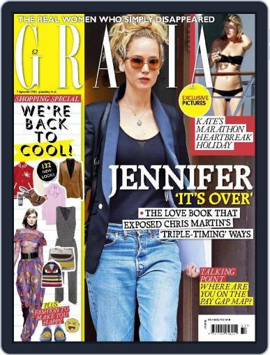 Grazia (Digital) September 7th, 2015 Issue Cover
