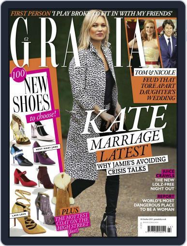 Grazia (Digital) October 19th, 2015 Issue Cover