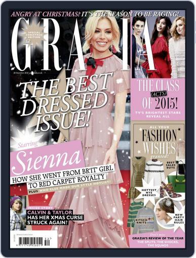 Grazia December 15th, 2015 Digital Back Issue Cover