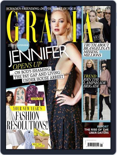Grazia (Digital) December 29th, 2015 Issue Cover
