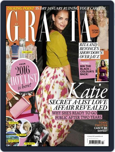 Grazia January 5th, 2016 Digital Back Issue Cover