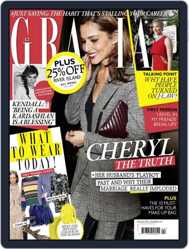 Grazia (Digital) January 25th, 2016 Issue Cover