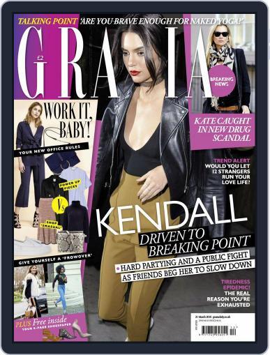 Grazia (Digital) March 15th, 2016 Issue Cover