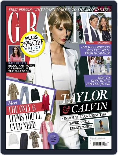 Grazia (Digital) March 22nd, 2016 Issue Cover