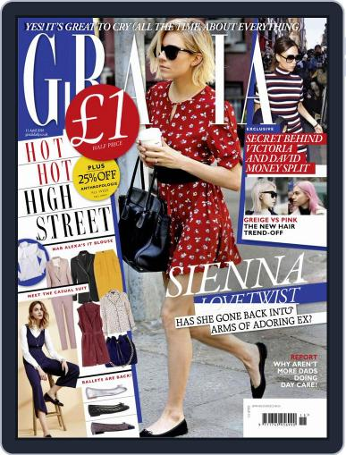 Grazia April 5th, 2016 Digital Back Issue Cover