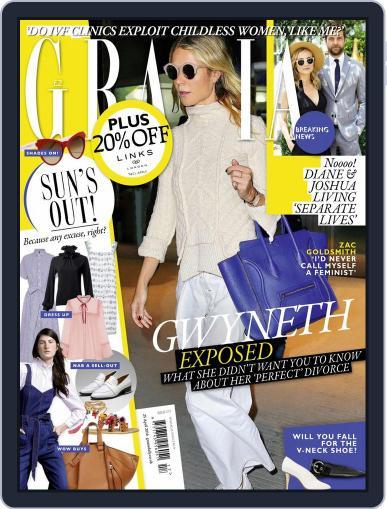 Grazia April 19th, 2016 Digital Back Issue Cover