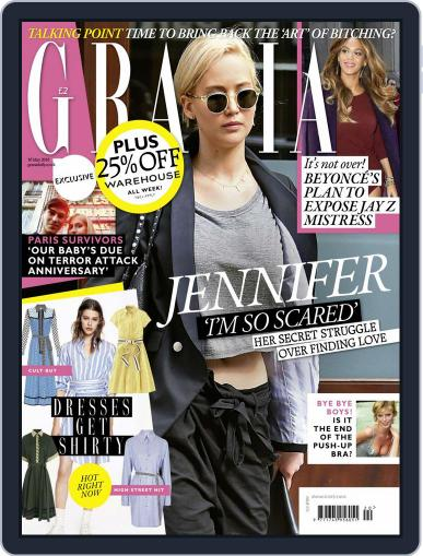 Grazia May 10th, 2016 Digital Back Issue Cover