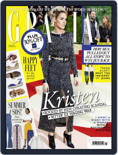 Grazia May 17th, 2016 Digital Back Issue Cover